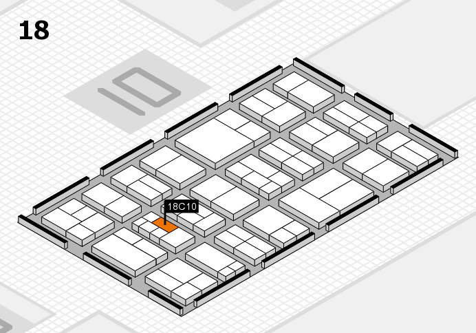 components 2017 hall map (Hall 18): stand C10