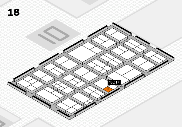 components 2017 hall map (Hall 18): stand D17