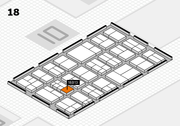 components 2017 Hallenplan (Halle 18): Stand B13