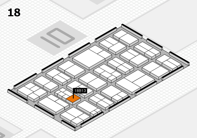components 2017 hall map (Hall 18): stand B13