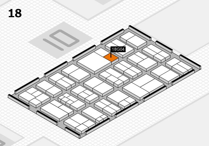 components 2017 Hallenplan (Halle 18): Stand G04
