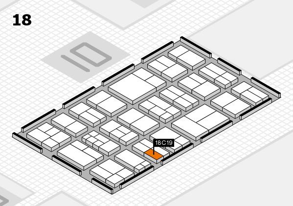 components 2017 Hallenplan (Halle 18): Stand C19