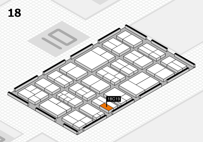 components 2017 hall map (Hall 18): stand C19