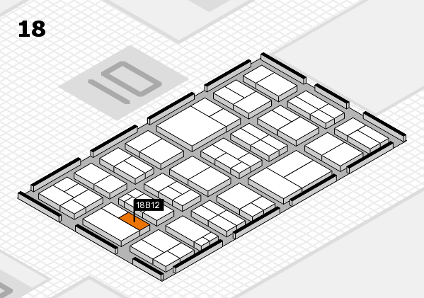 components 2017 hall map (Hall 18): stand B12
