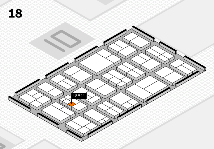 components 2017 hall map (Hall 18): stand B11