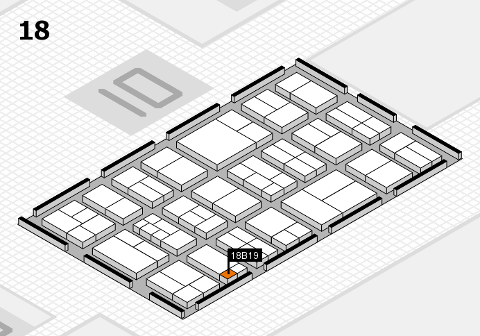 components 2017 hall map (Hall 18): stand B19