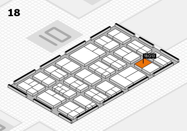 components 2017 Hallenplan (Halle 18): Stand G13