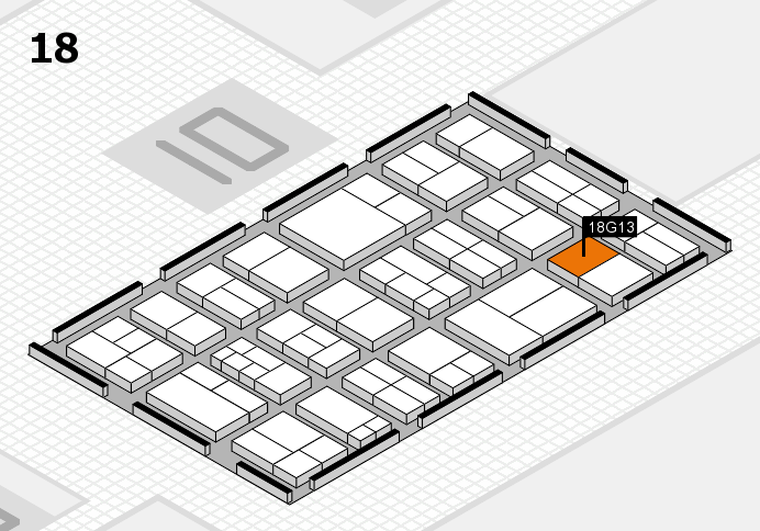 components 2017 hall map (Hall 18): stand G13