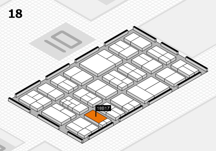 components 2017 hall map (Hall 18): stand B17