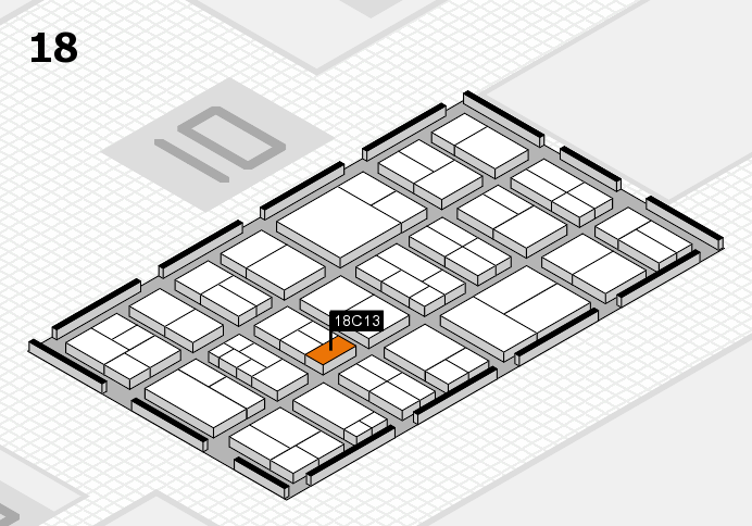 components 2017 hall map (Hall 18): stand C13