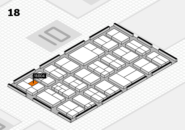 components 2017 hall map (Hall 18): stand B04