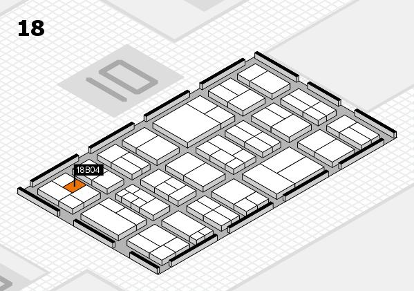 components 2017 Hallenplan (Halle 18): Stand B04