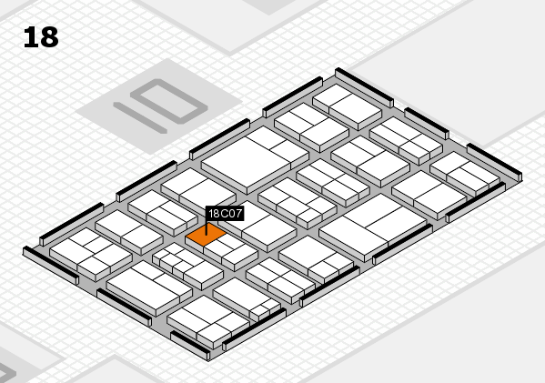 components 2017 hall map (Hall 18): stand C07
