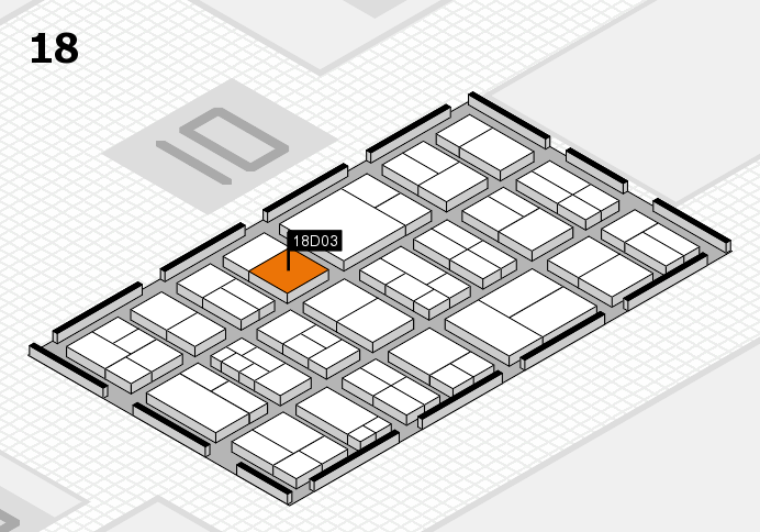 components 2017 hall map (Hall 18): stand D03