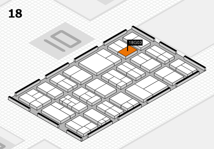 components 2017 hall map (Hall 18): stand G03