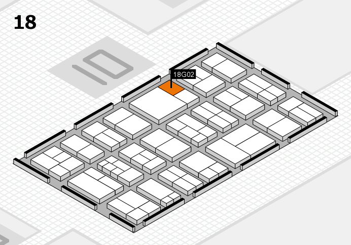 components 2017 hall map (Hall 18): stand G02