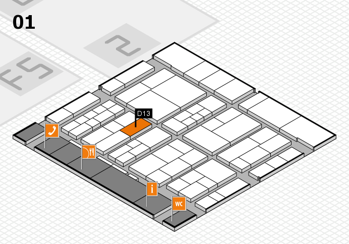 interpack 2017 hall map (Hall 1): stand D13