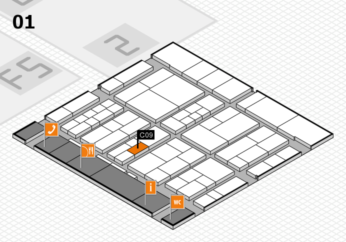 interpack 2017 hall map (Hall 1): stand C09