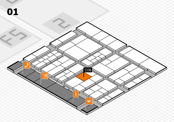 interpack 2017 hall map (Hall 1): stand C08