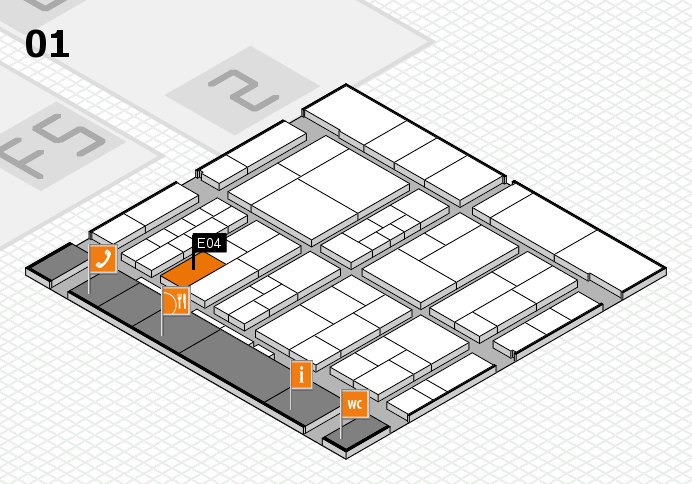 interpack 2017 hall map (Hall 1): stand E04
