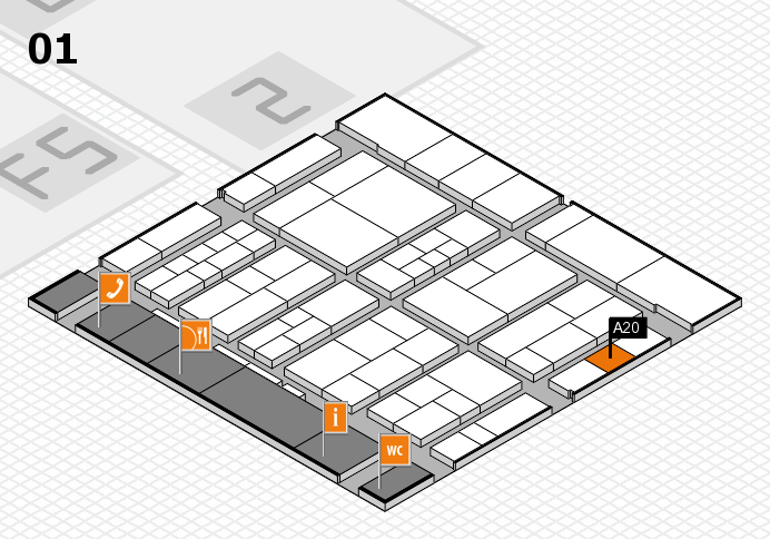 interpack 2017 hall map (Hall 1): stand A20