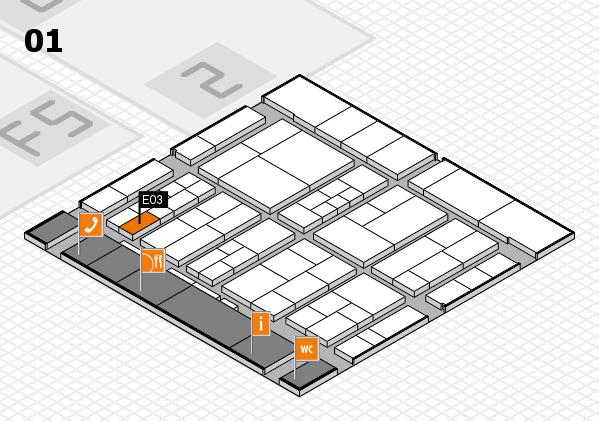 interpack 2017 Hallenplan (Halle 1): Stand E03