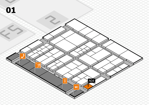 interpack 2017 hall map (Hall 1): stand A04