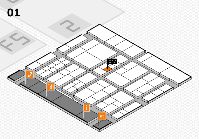 interpack 2017 hall map (Hall 1): stand C17