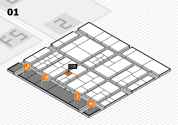 interpack 2017 hall map (Hall 1): stand D08