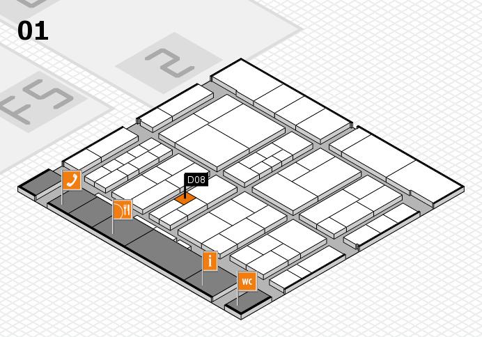 interpack 2017 Hallenplan (Halle 1): Stand D08
