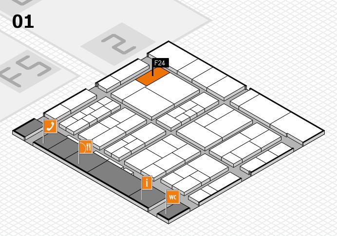 interpack 2017 Hallenplan (Halle 1): Stand F24