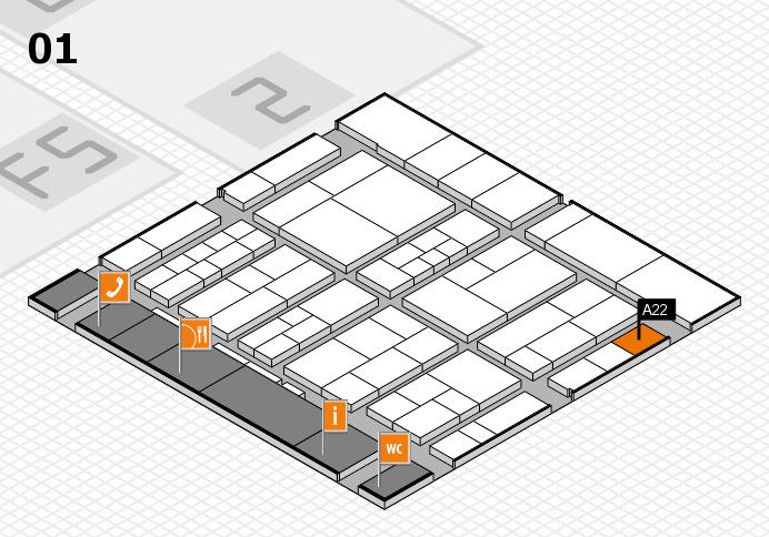interpack 2017 Hallenplan (Halle 1): Stand A22