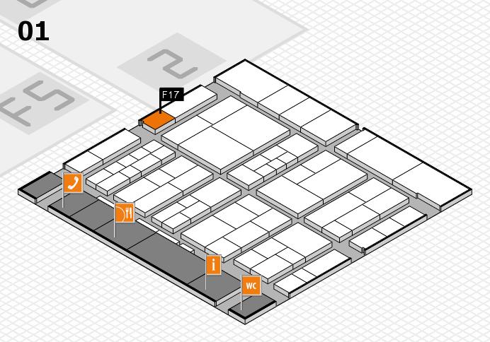 interpack 2017 Hallenplan (Halle 1): Stand F17
