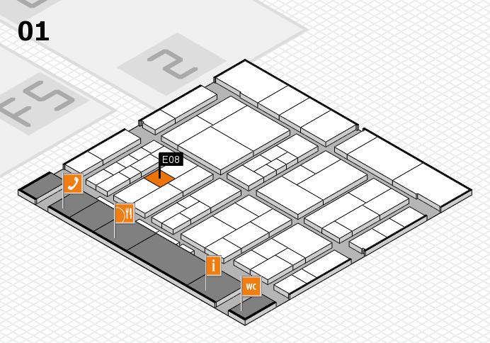 interpack 2017 Hallenplan (Halle 1): Stand E08