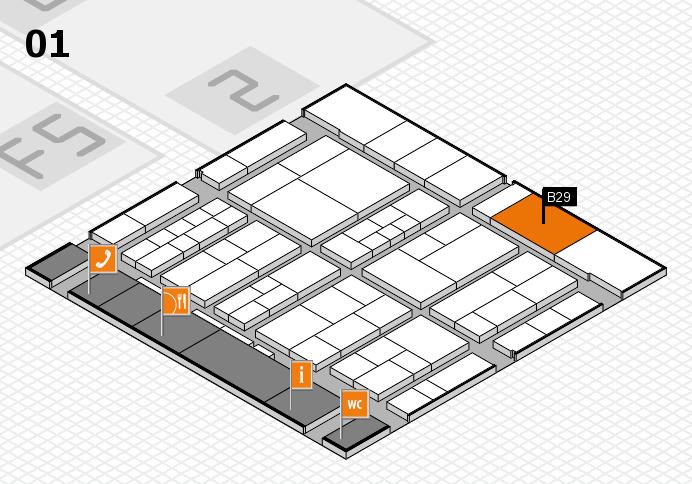interpack 2017 Hallenplan (Halle 1): Stand B29