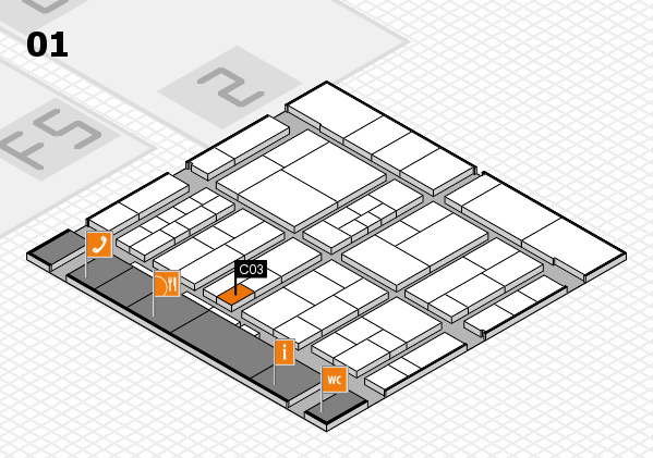 interpack 2017 hall map (Hall 1): stand C03