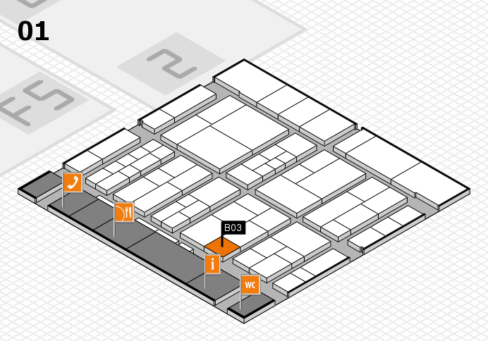 interpack 2017 hall map (Hall 1): stand B03