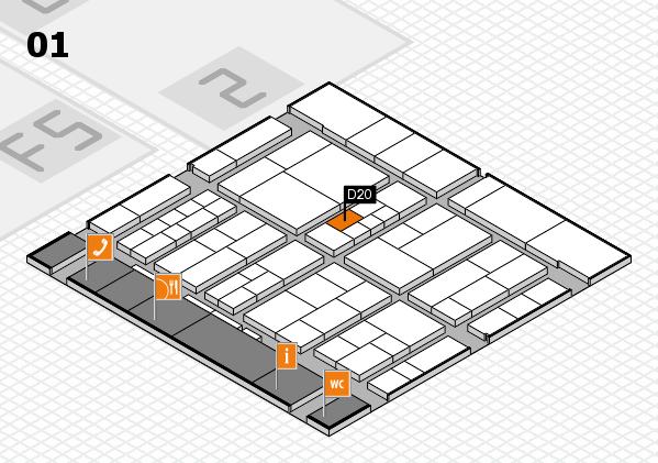 interpack 2017 hall map (Hall 1): stand D20