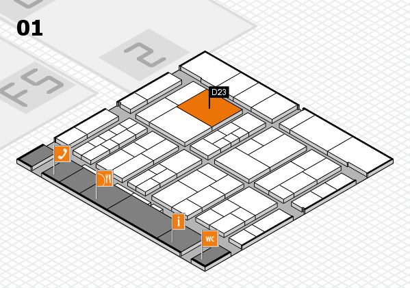 interpack 2017 hall map (Hall 1): stand D23