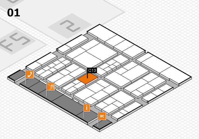 interpack 2017 hall map (Hall 1): stand C13
