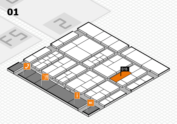 interpack 2017 hall map (Hall 1): stand B18