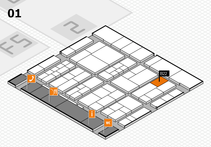 interpack 2017 hall map (Hall 1): stand B22