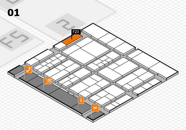 interpack 2017 hall map (Hall 1): stand F23