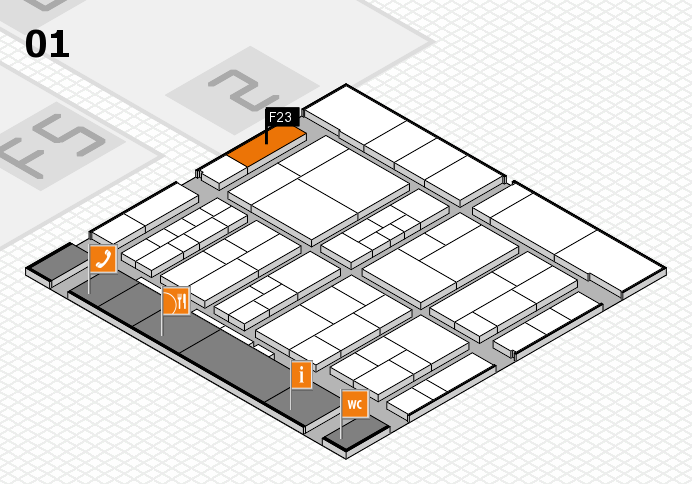 interpack 2017 Hallenplan (Halle 1): Stand F23