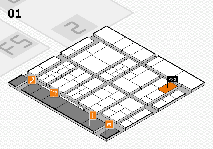 interpack 2017 hall map (Hall 1): stand A23