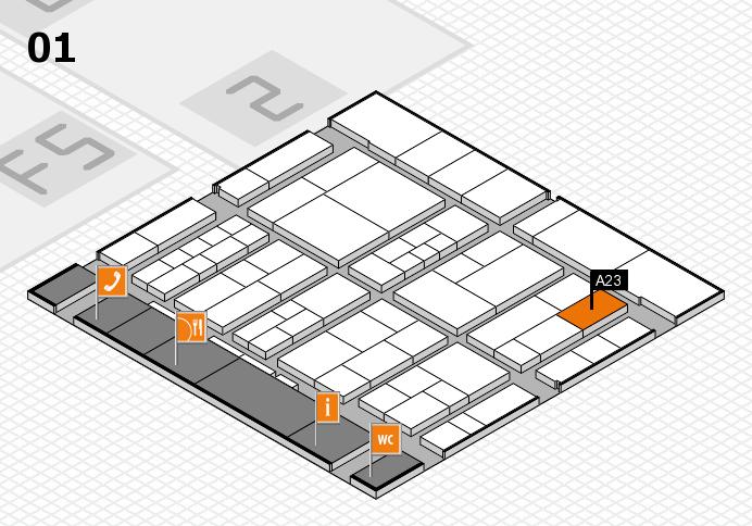 interpack 2017 Hallenplan (Halle 1): Stand A23