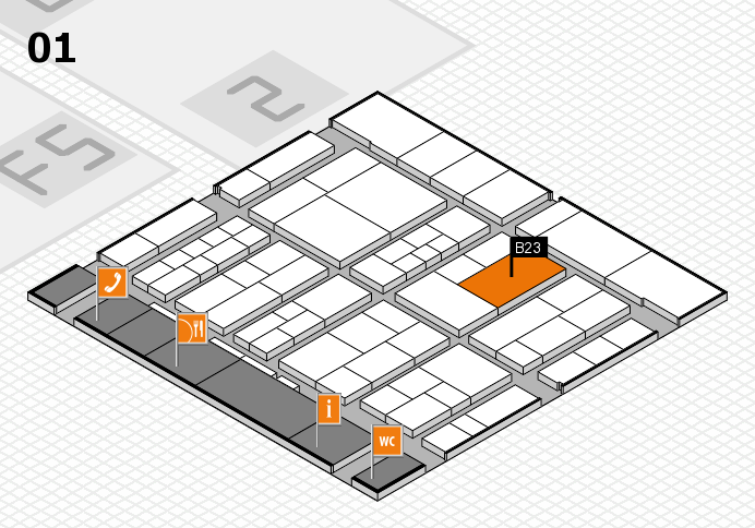 interpack 2017 hall map (Hall 1): stand B23