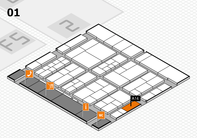 interpack 2017 hall map (Hall 1): stand A14