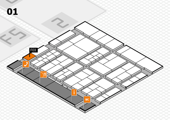 interpack 2017 hall map (Hall 1): stand F03