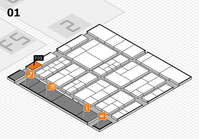 interpack 2017 Hallenplan (Halle 1): Stand F03